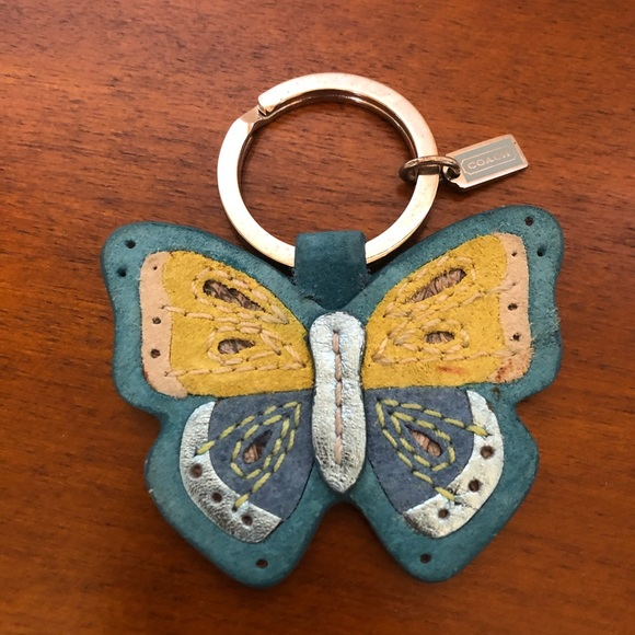 COACH butterfly key ring/fob